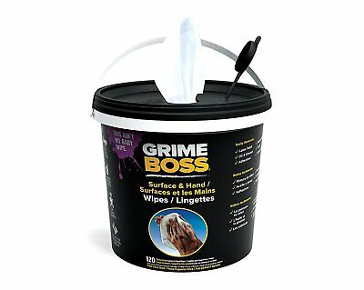 Grime Boss Heavy Duty Hands & Surface Wipes 120 Wipes RRP Grease Oil Paint New
