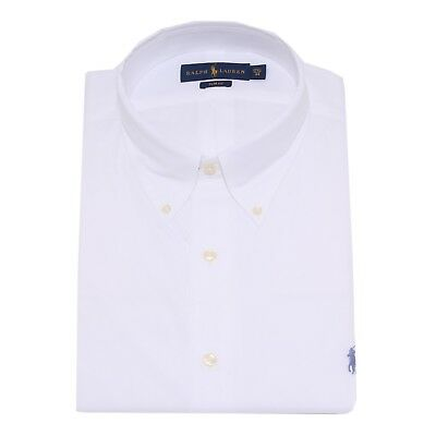 6077U camicia uomo RALPH LAUREN SLIM FIT white shirt long sleeve men