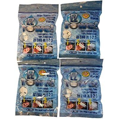 (4) Wall Art NEW Bags Of EZ Towels Compressed Towels With Durable Tubes And 200