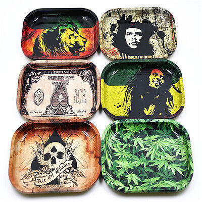 Cool Cigarette Rolling Tray Metal Prime Smoking Holder Trays  18cm/ 7*5.5in