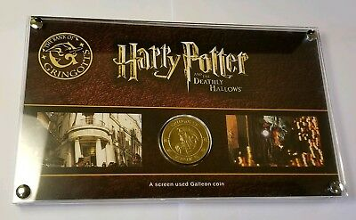 Harry Potter Prop Screen Used Galleon Coin W/ frame and COA