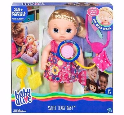 Baby Alive Sweet Tears Baby - Blonde Hair - Brand New- FAST SHIP