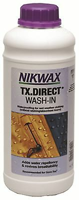 New NIKWAX 1 Litre TX Direct Wash-In The No1 waterproofing wet weather clothing