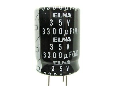ELNA 15uf 35v Electrolytic Axial Capacitor  NOS 15.5mm x 6.3mm Lot of 5