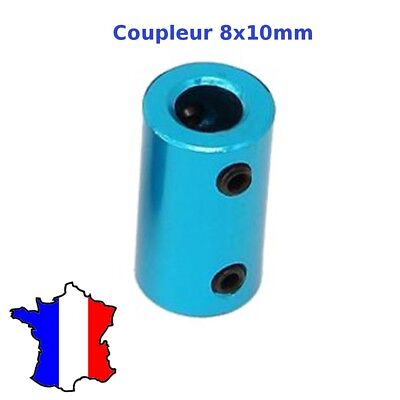 coupleur rigide 8x10mm en metal 8*10 shaft coupler tige rigide