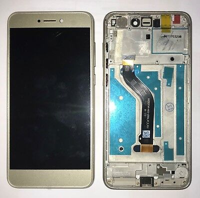 Nuovo Vetro Display Lcd Touch Screen + Frame Per Huawei Ascend P8 Lite 2017 Gold