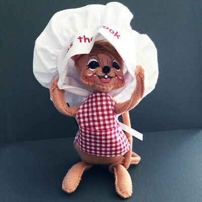 """Annalee Kiss The Cook Mouse Doll 6"""" Chef 2014 NEW Mothers Fathers Day Christmas"""