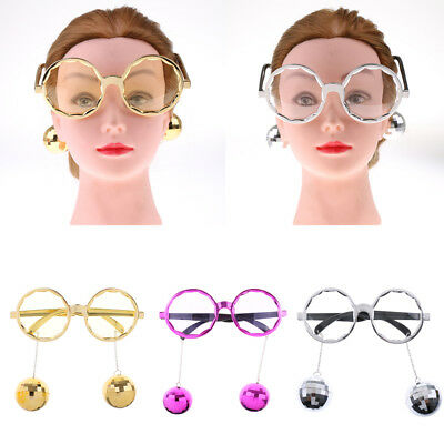 Shiny Hanging Disco Ball Glasses Carnival Festival Club Hen Night Party Costume