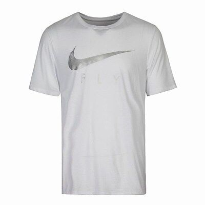 0ced1584 Authentic Nike Dri-Fit Droptail Fly White/Metallic T Shirt 904428-100