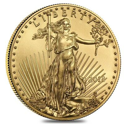 2018 1/10 oz Gold American Eagle $5 Coin BU