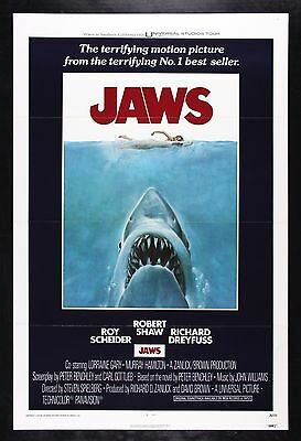 JAWS * CineMasterpieces ORIGINAL MOVIE POSTER 1975 C9 NM UNUSED SHARK