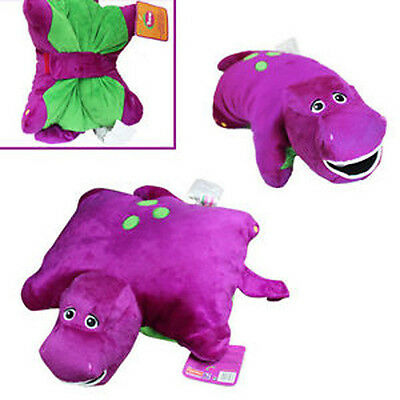 "Barney Dinosaur 12"" x 12"" Cushion Pillow Soft Plush Doll"