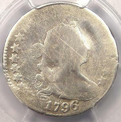 1796 Draped Bust Dime 10C - Certified PCGS AG Details - First Dime Ever Minted!