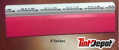 Pink Fusion Squeegee Turbo Pro with White Handle 8 Inches Wide PPF Clean Tool