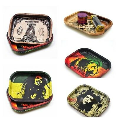 Printed Durable Cigarette Tray Rolling Smoking Holder Plate Club Tray 18*14cm