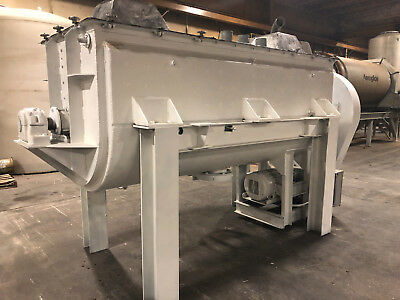 JH DAY 100 cu. ft. Stainless Steel Double Helix Ribbon Blender