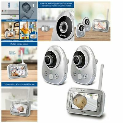 Vtech Baby Monitor Video 2 Cameras Wireless Safe Sound Wifi Camera Night Vision