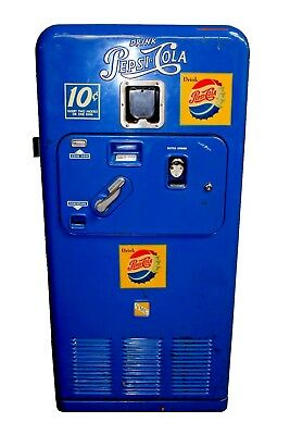 Vintage Original Pepsi Cola VMC 33 10cent Vending Machine, 1950s