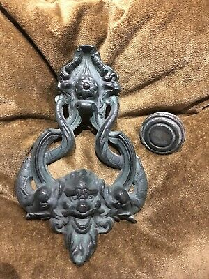 Large Antique 19th century bronze door knocker