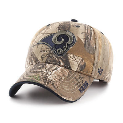super popular 7d18b 36379 Los Angeles Rams  47 Brand Camo Realtree Frost MVP Adjustable Hat