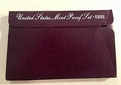 1991-S Proof Set United States US Mint Original Government Packaging Box & COA