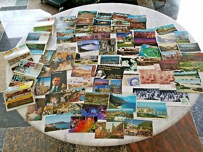 Bulk Vintage Postcards USA 50+  Folders are 1960s