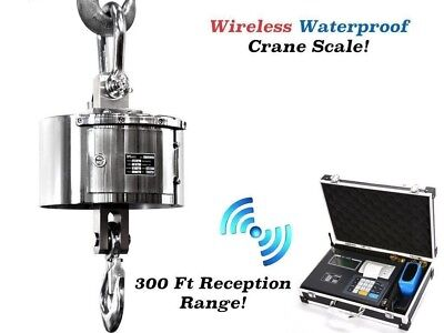 Waterproof Stainless Steel Wireless Crane Scale l Hoist 30,000 lb x 5 lb