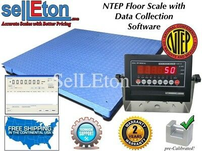 "NEW NTEP Legal  40"" x 40"" Floor scale pallet 10,000 x 2 lb with Data Software"