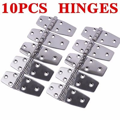 """10PCS Boat Marine Flush Door Hinges 3.8""""X1.5"""" Polished AISI 316 Stainless Steel"""