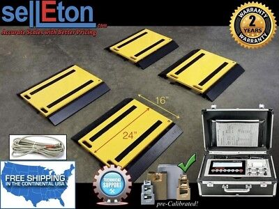 "16"" x 24"" x 2"" Four Portable Weigh Pads/ Indicator & Printer/ 100,000 lb x 20 lb"