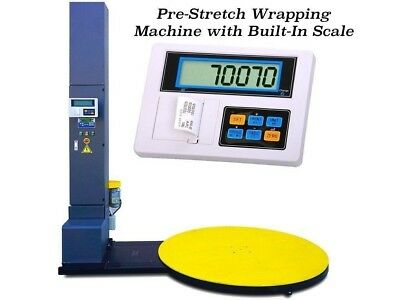 Industrial Pre-Stretch Wrapping Machine with Built-in Scale l 5000 lbs x 1 lb