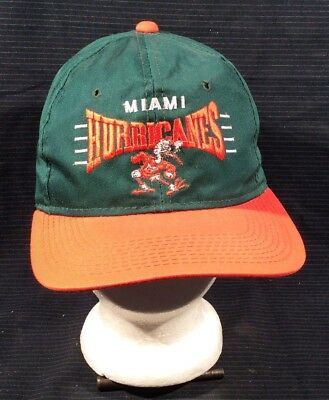 VINTAGE UNWORN 90 S The Game Ncaa Miami Hurricanes Snapback Hat ... 705d69abc43a