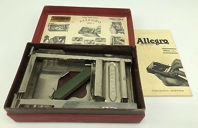 Vintage Allegro Sharpener MOD L Made In Switzerland With Box And Instructions