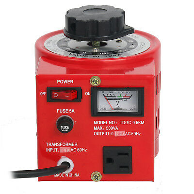 Variac Variable AC Transformer Metered 500W 110V Auto Regulator 0-130V 500VA