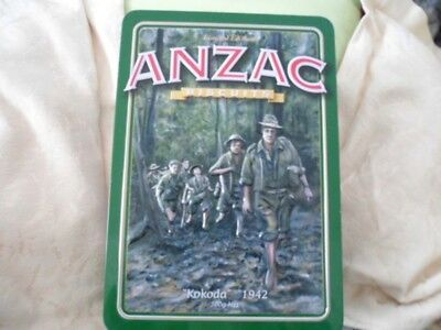 UNIBIC ANZAC Biscuits, 'Kokoda - 1942', red on green, 500g. Biscuit Tin