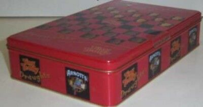 Arnott's Tiny Teddy, 'Fun and Games', rect., 500g. Biscuit Tin, c.2000