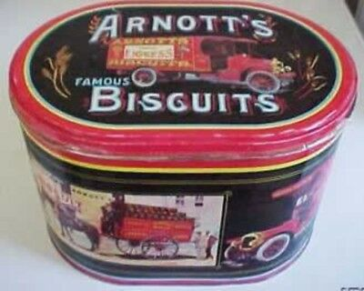 Arnott's 'Delivery', oval, 900g. Biscuit Tin, c.1985