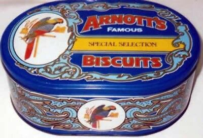 Arnott's 'SPECIAL SELECTION', stepped-edge, blue, oval, 450g. Biscuit Tin, c.198