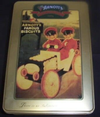 Arnott's 'Boys in Biscuit Car', gold, 500g. Biscuit Tin, c.2001