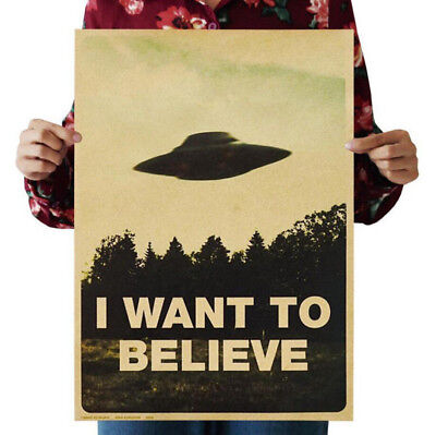 "Vintage Classic Poster ""I Want To Believe"" Wall Stickers Home Decor Hot"