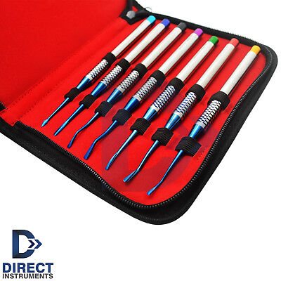 7Pcs Set Dental PDL Luxating Precise Periotomes Elevator Implant Root Extracting