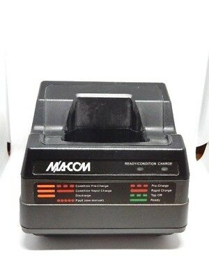 M/A-COM Harris GE Ericsson P7100 P7200 Tri-Chemistry Charger CH-104560-026 AS-IS