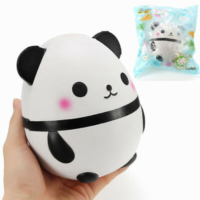 PU Foam Squishy Panda Doll Egg Jumbo Slow Rising With Packaging Soft Squeeze Toy