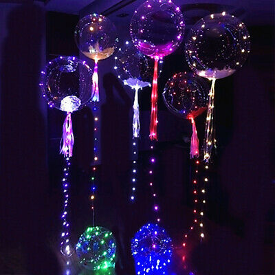 LED String Lights Helium Balloon Christmas Wedding Party Decor Lamp 25cm Gift