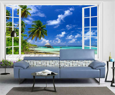 Firm Concise Beach 3D Full Wall Mural Photo Wallpaper Printing Home Kids Decor