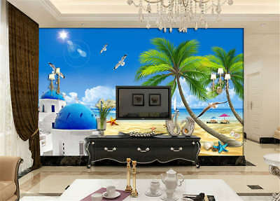 Bright Marginal Sea 3D Full Wall Mural Photo Wallpaper Printing Home Kids Decor