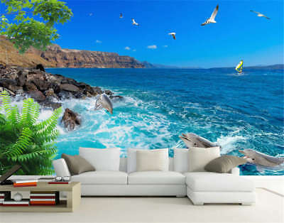 Clear Marginal Cliff 3D Full Wall Mural Photo Wallpaper Printing Home Kids Decor