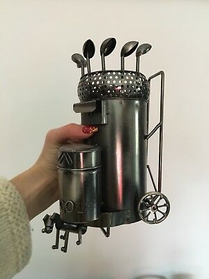Metal Wine Bottle Holder Ornament Golf Bag