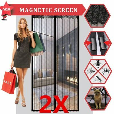 Fly Screen Mosquito Bug Door Magic Magna Mesh Magnetic Curtain Hands Free I5