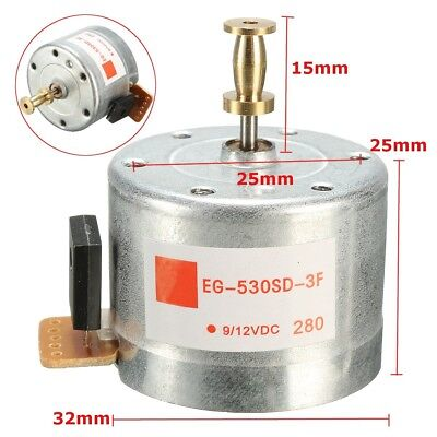 Mounting Holes 25MM DC9-12V Turntables Motor 33/45,78RPM For 3-speed Turntable